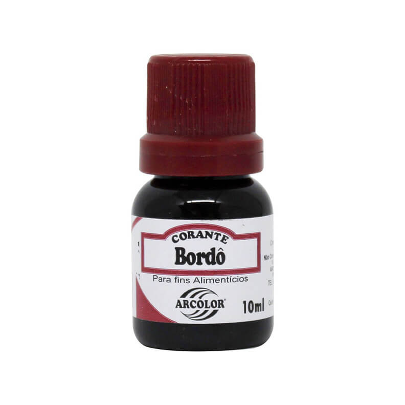 Corante Alimentício Bordo (10ml)